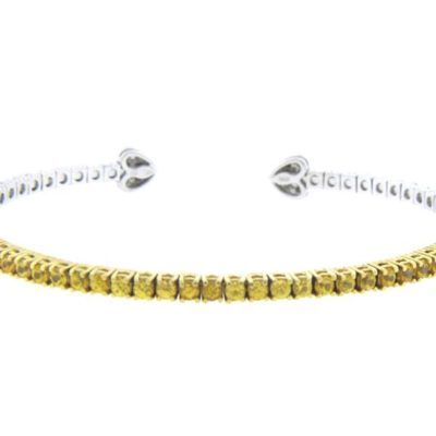 Yellow Sapphire Bangle In 14kt Gold