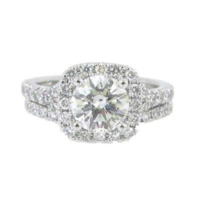 Platinum Diamond Engagement Set 1.51ct