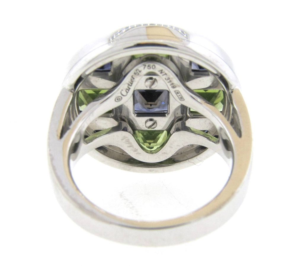 peridot birthstone eternity swk crystal ring stainless pd comfort steel color bling august wedding r rings band jewelry