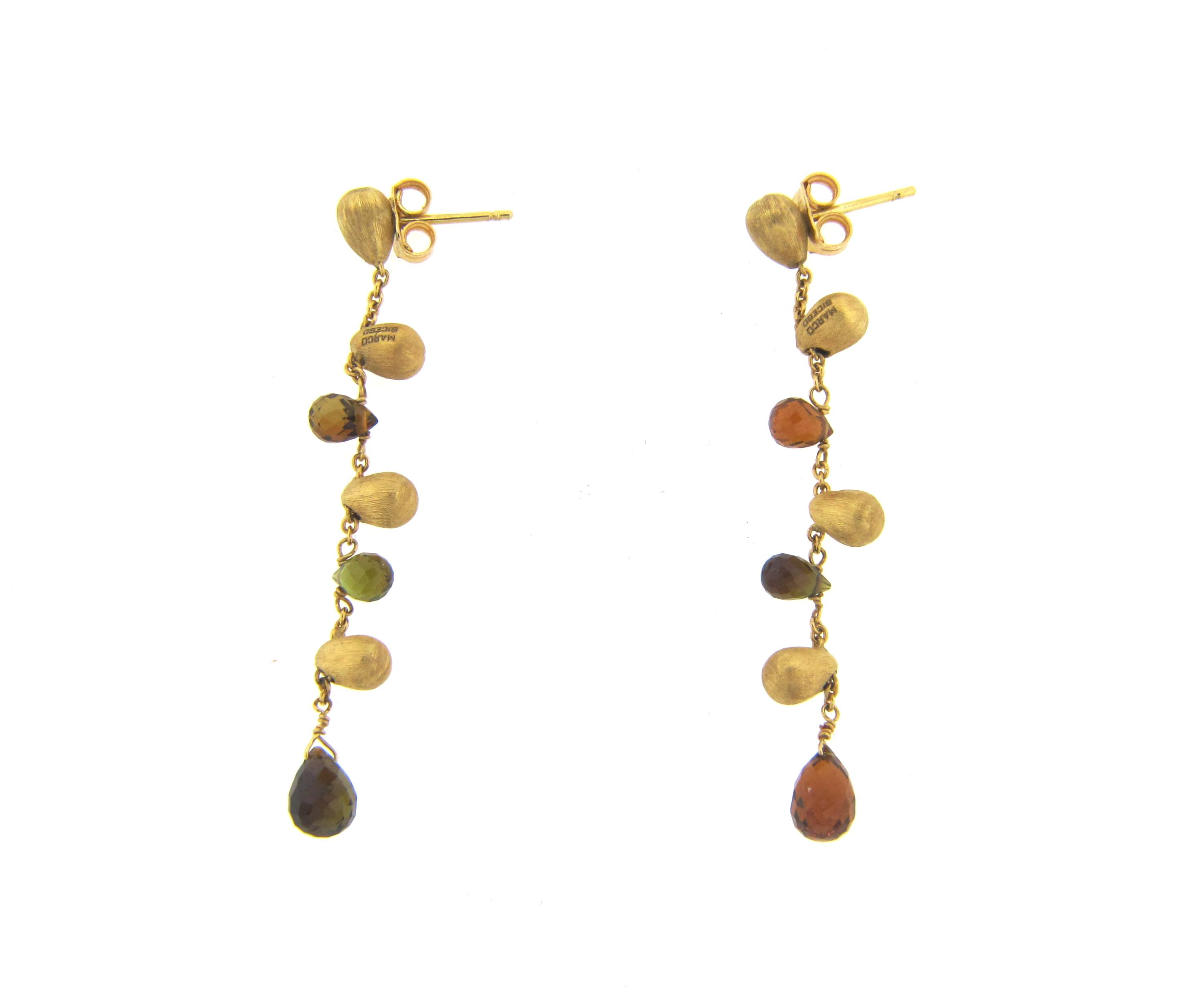 bicego strand gold yellow earrings marco jewelry a collection confetti