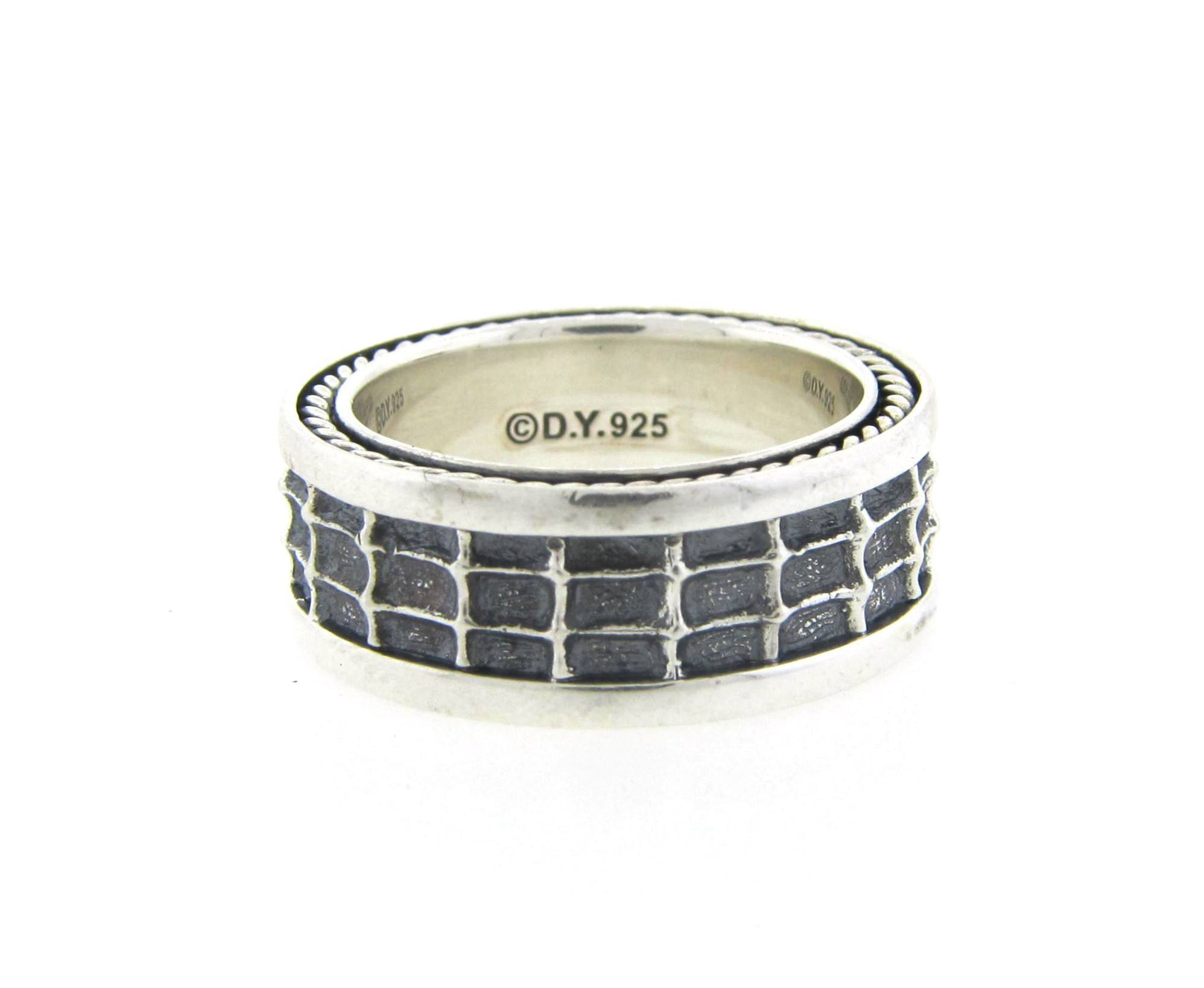 David yurman grid design men 39 s band diamond exchange usa for Jewelry by design rockville md