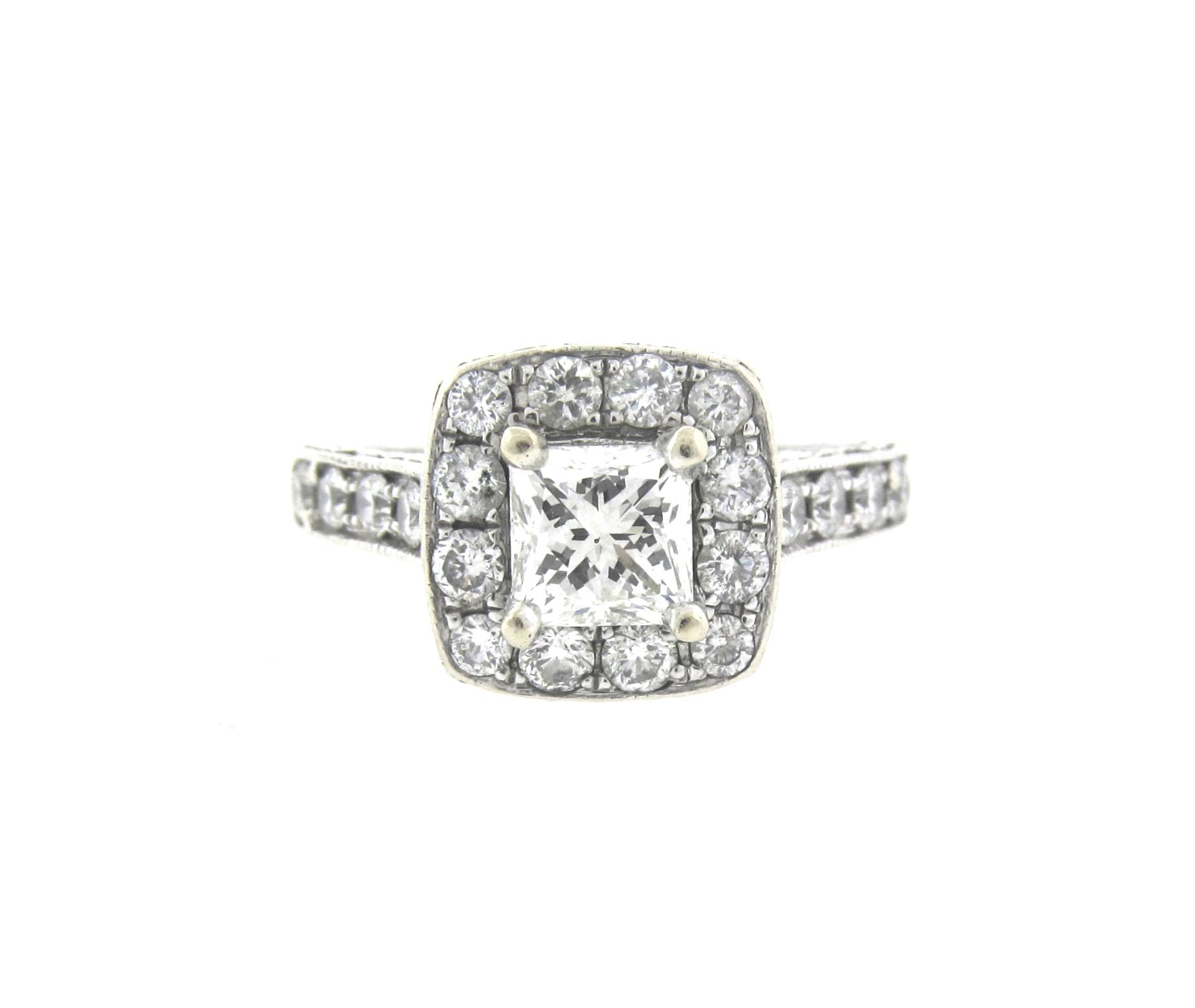 sterling number d cluster cut product point engagement ernest leo ring rings webstore square diamond jones silver