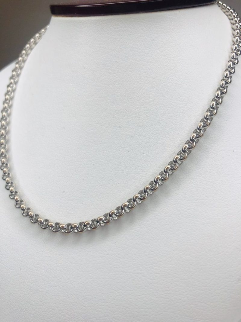 Chopard 2 9mm Box Chain Necklace in 18K White Gold 16 5 inches